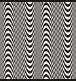 curved striped wavy lines seamless pattern vector image