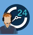 customer service call center vector image