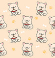 cute french bulldog seamless pattern background vector image vector image