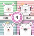 cute winter bear characters vector image