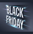 dark banner for black friday sale metallic vector image