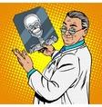 doctor surgeon x-rays skull vector image vector image