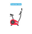 exercise bike fit icons vector image vector image