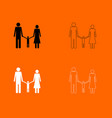 family black and white set icon vector image vector image