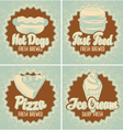fast food brewed vector image vector image