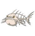 fish bone cartoon vector image vector image