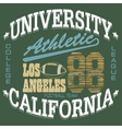Football T-shirt graphics California sportswear vector image vector image