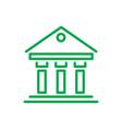 greek building inforgaphic vector image vector image