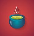 Green Potion Funny Halloween Carton with Long Sha vector image vector image