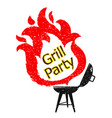 grill and tongues fire vector image vector image
