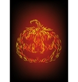 Halloween pumpkin in fire vector image vector image