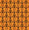 Halloween Skeleton Pattern vector image vector image