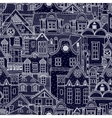 Hand-drawn seamless pattern with old town vector image vector image