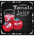 Hand drawn tomato tomato juice vector image