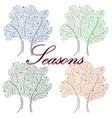 hand-drawn with seasons an for vector image vector image