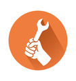 hand with wrench vector image vector image