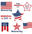 Happy Memorial Day Patriotic American Flag vector image