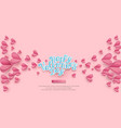 holiday background for valentines day pink vector image vector image