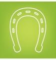 Horseshoe line icon vector image vector image