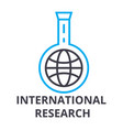 international research thin line icon sign vector image vector image