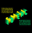 isometric 3d font design three-dimensional vector image