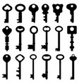 key black silhouette retro old antique a set vector image vector image