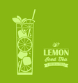 Lemon Iced Tea Background vector image vector image