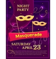 Masquerade poster vector image vector image
