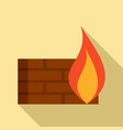 modern firewall icon flat style vector image vector image