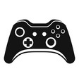 modern gamepad icon simple style vector image vector image