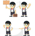 Nerd Boy Customizable Mascot 16 vector image vector image