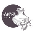 olive oil extra virgin monochrome sketch outline vector image