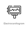 outline electrocardiogram icon isolated black vector image vector image