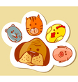 paw shape vector image vector image