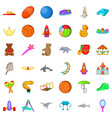 playground icons set cartoon style vector image vector image