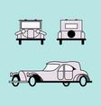 retro car 20 years of the twentieth century vector image