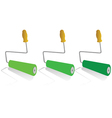 roller for painting in green color vector image