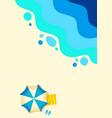 sandy beach tropical background ocean abstract vector image vector image