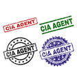 scratched textured cia agent stamp seals vector image
