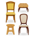 set chair vector image vector image