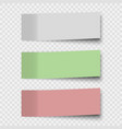 set sticky notes or office paper sheets vector image vector image
