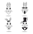 Set the head of the rabbit vector image vector image