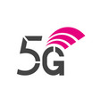 sign technology 5g network vector image vector image