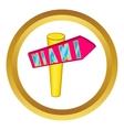 Signpost Miami icon vector image vector image