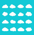 sky cloud icon set vector image vector image