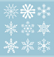 snowflake-03 vector image vector image