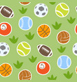 sport balls isolated collection seamless vector image vector image