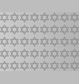 star of david on a gray background vector image vector image