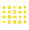 sun shine ray set sunshine sign collection vector image