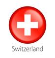 switzerland round button flag vector image